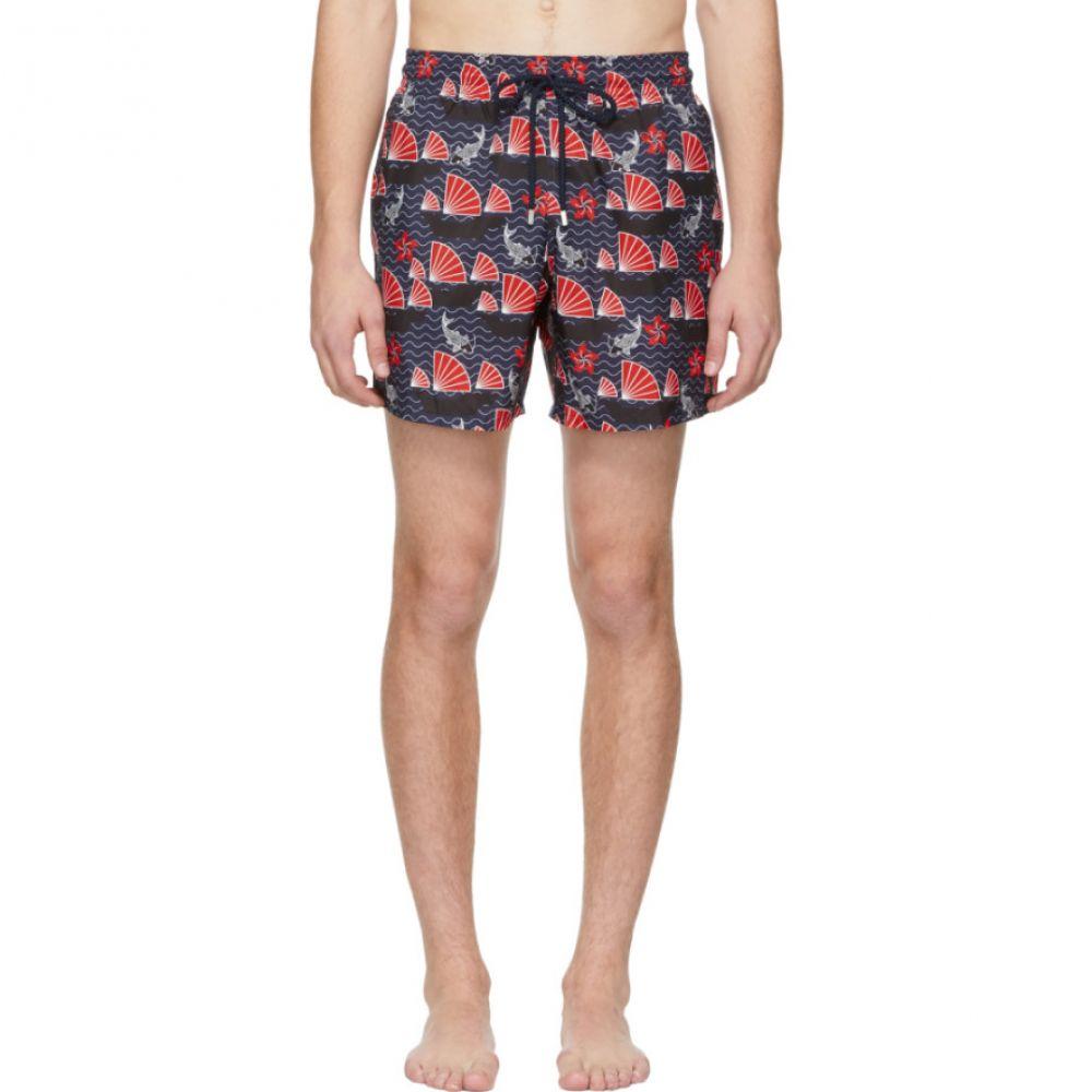ヴィルブレクイン Vilebrequin メンズ 水着・ビーチウェア 海パン【Blue Hong Kong Mahina Swim Shorts】