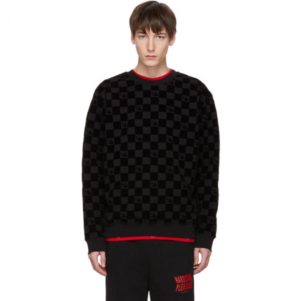 アレキサンダー マックイーン McQ Alexander McQueen メンズ トップス スウェット・トレーナー【Black Racing Check Swallow Sweatshirt】