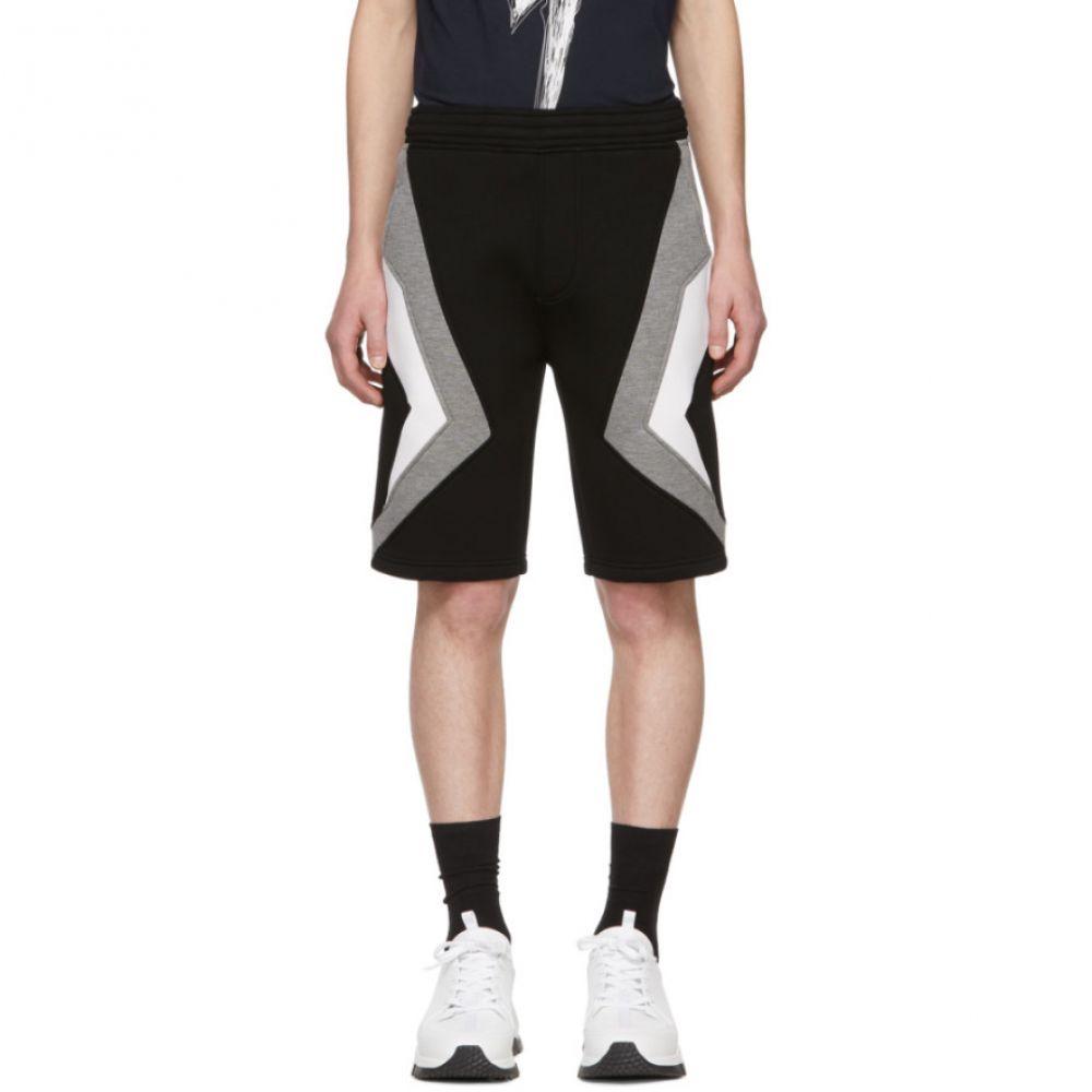 ニール バレット Neil Barrett メンズ ボトムス・パンツ ショートパンツ【Black & Grey Stripe Shorts】