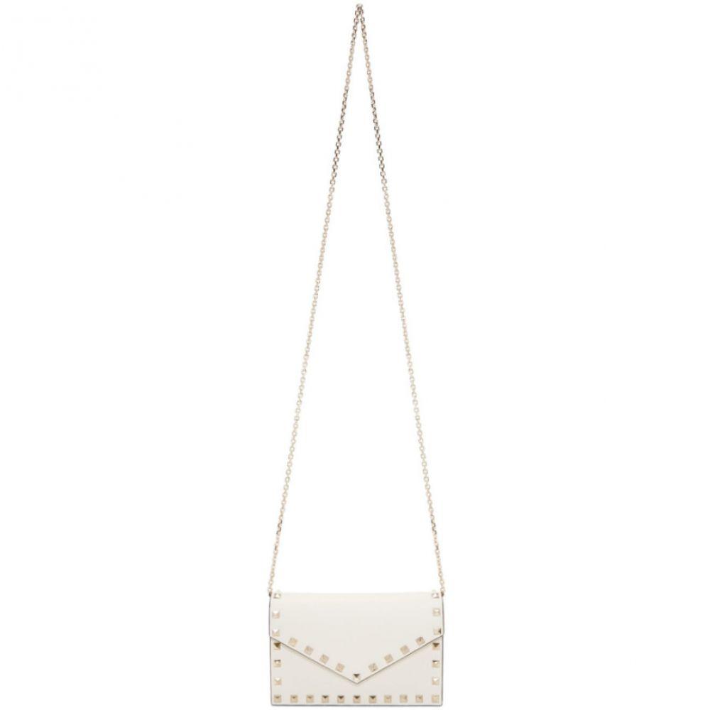 ヴァレンティノ Valentino レディース バッグ ショルダーバッグ【White Garavani Rockstud Wallet Chain Bag】