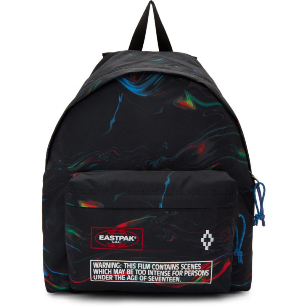 マルセロバーロン Marcelo Burlon County of Milan レディース バッグ バックパック・リュック【Black Eastpak Edition Glitch County Padded Pak'r Backpack】