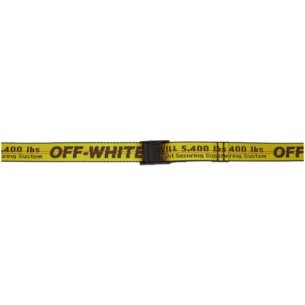 オフ-ホワイト Off-White レディース ベルト【Yellow & Black Mini Industrial Belt】