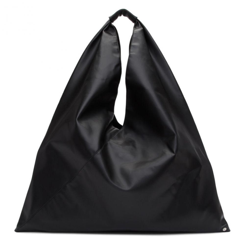 メゾン マルジェラ MM6 Maison Margiela レディース バッグ トートバッグ【Black Large Faux-Leather Tote】