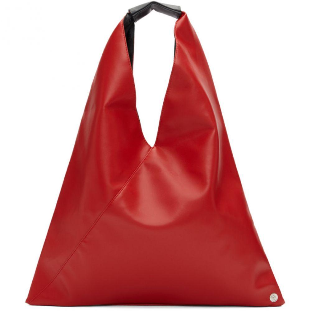 メゾン マルジェラ MM6 Maison Margiela レディース バッグ トートバッグ【Red Small Faux-Leather Tote】