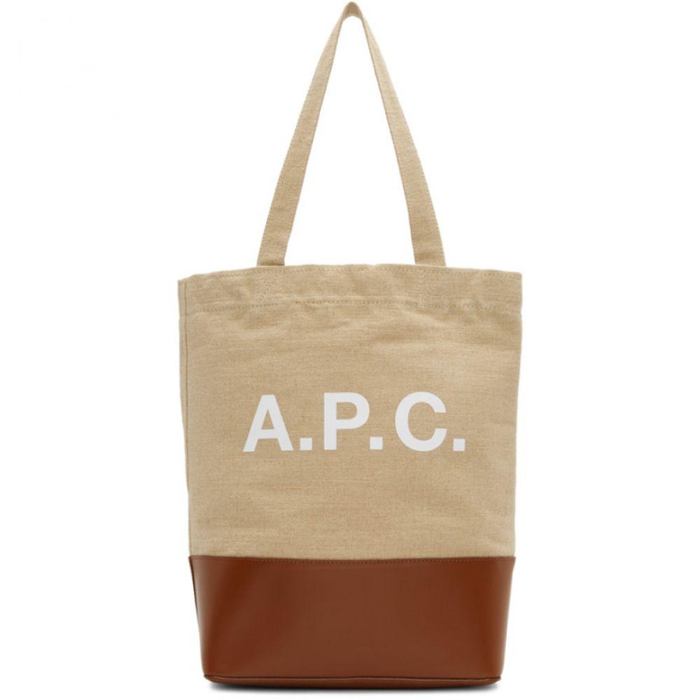 アーペーセー A.P.C. レディース バッグ トートバッグ【Brown & Beige Axel Tote】