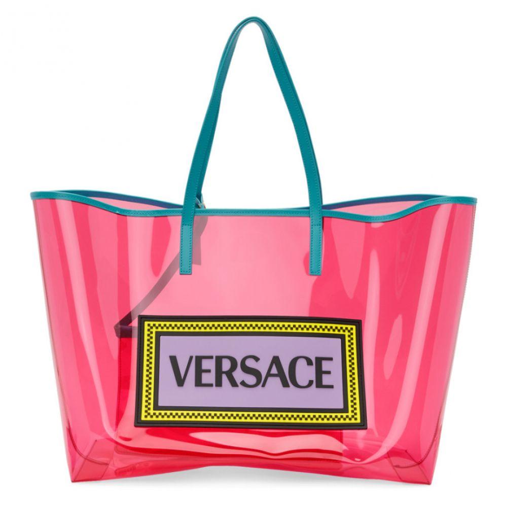 ヴェルサーチ Versace レディース バッグ トートバッグ【Pink & Blue PVC Oversized Tote】