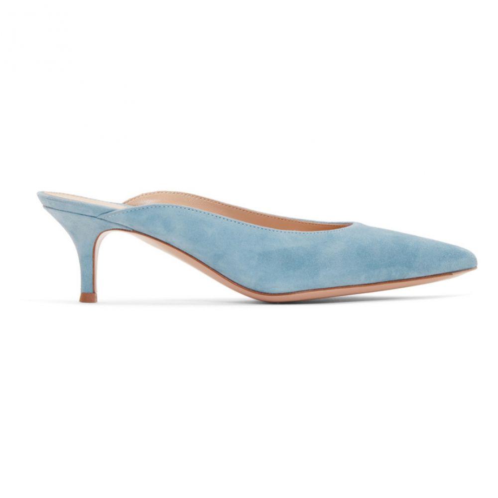 ジャンヴィト ロッシ Gianvito Rossi レディース シューズ・靴 サンダル・ミュール【Blue Suede Paige Kitten Mules】