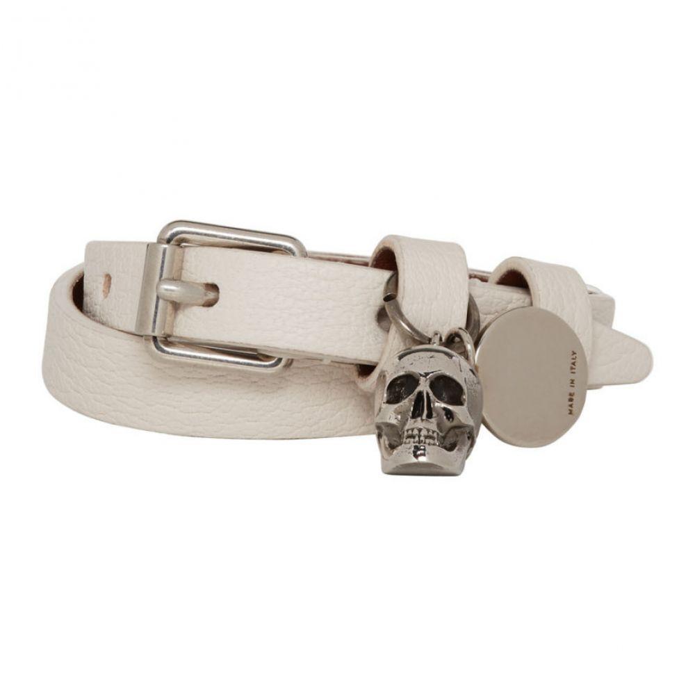 アレキサンダー マックイーン Alexander McQueen レディース ジュエリー・アクセサリー ブレスレット【Off-White Double Wrap Skull Bracelet】