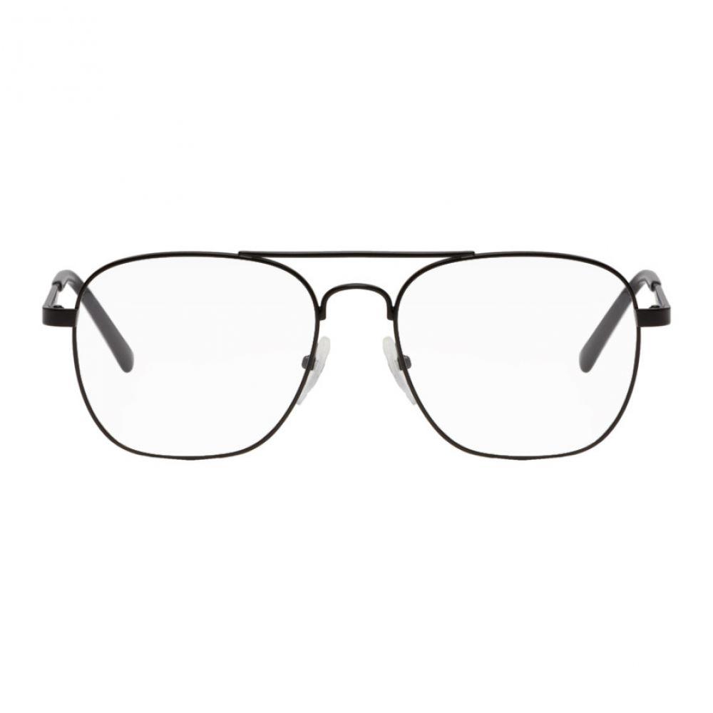バレンシアガ Balenciaga レディース メガネ・サングラス【Black Classic Aviator Glasses】