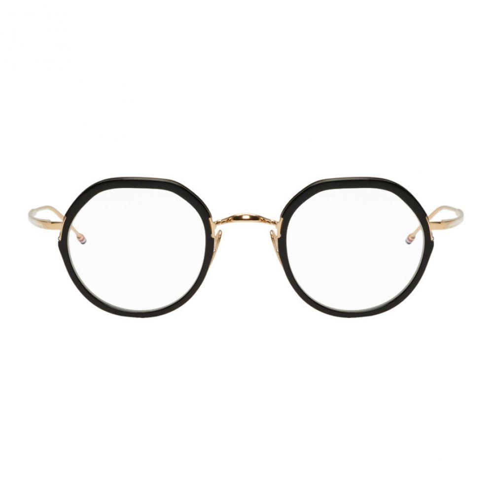 トム ブラウン Thom Browne レディース メガネ・サングラス【Black & Gold TBX911 Glasses】