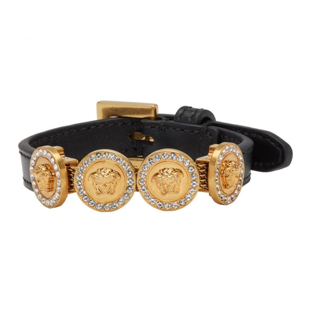 ヴェルサーチ Versace レディース ジュエリー・アクセサリー ブレスレット【Gold & Black Tribute Bracelet】