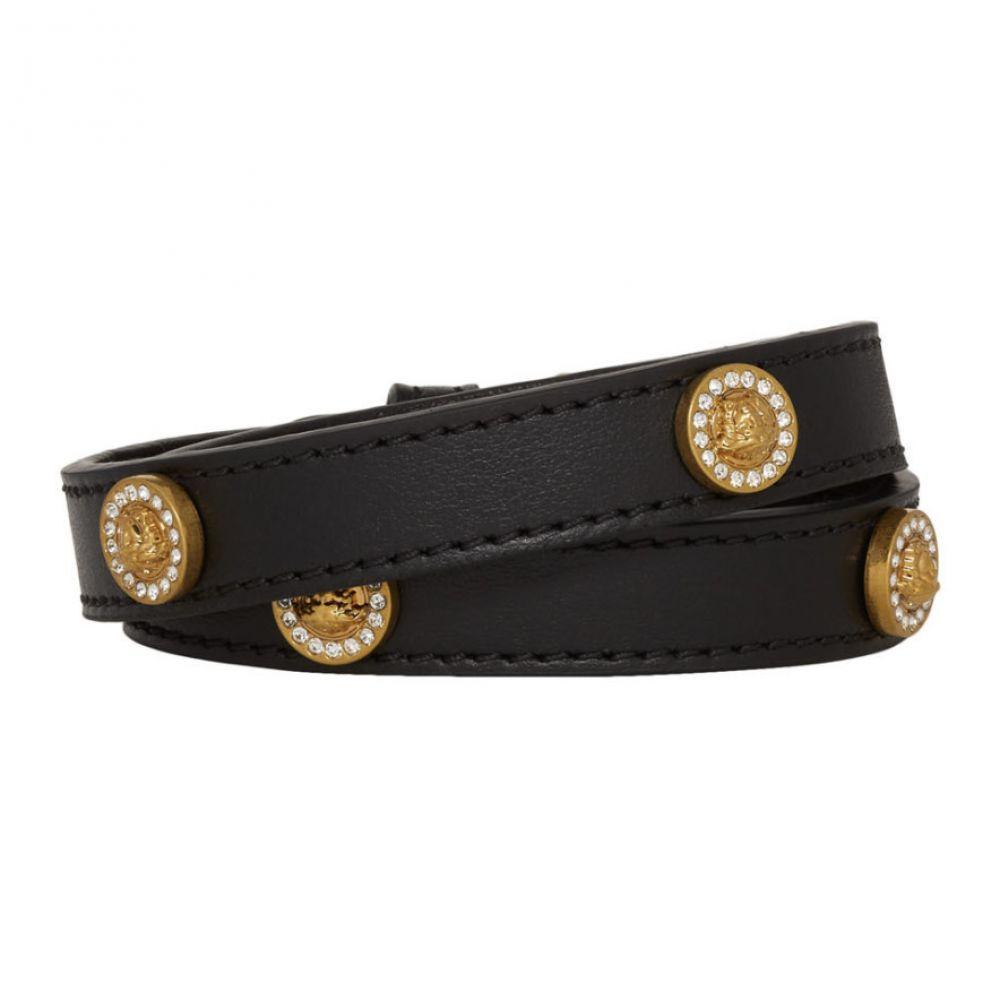 ヴェルサーチ Versace レディース ジュエリー・アクセサリー ブレスレット【Black Icon Stud Wrap Bracelet】