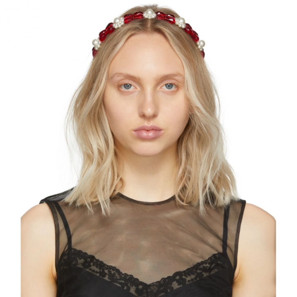 シモーネ ロシャ Simone Rocha レディース ヘアアクセサリー【Red Daisy Hairband】