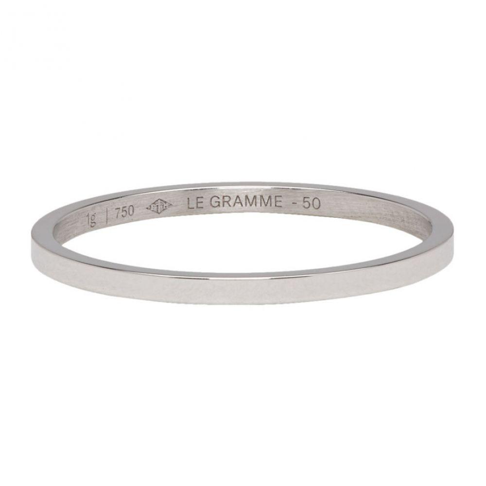 ルグラム Le Gramme レディース ジュエリー・アクセサリー 指輪・リング【White Gold Polished 'Le 1 Grammes' Wedding Ring】