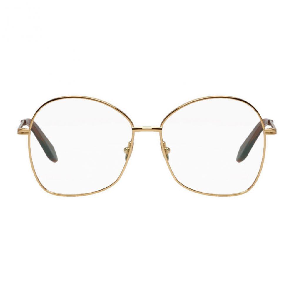 ヴィクトリア ベッカム Victoria Beckham レディース メガネ・サングラス【Gold Grooved Butterfly Glasses】