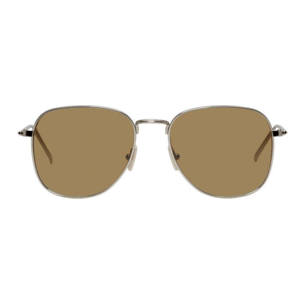 ヴィクトリア ベッカム Victoria Beckham レディース メガネ・サングラス【Silver & Brown Metal Fine Square Sunglasses】