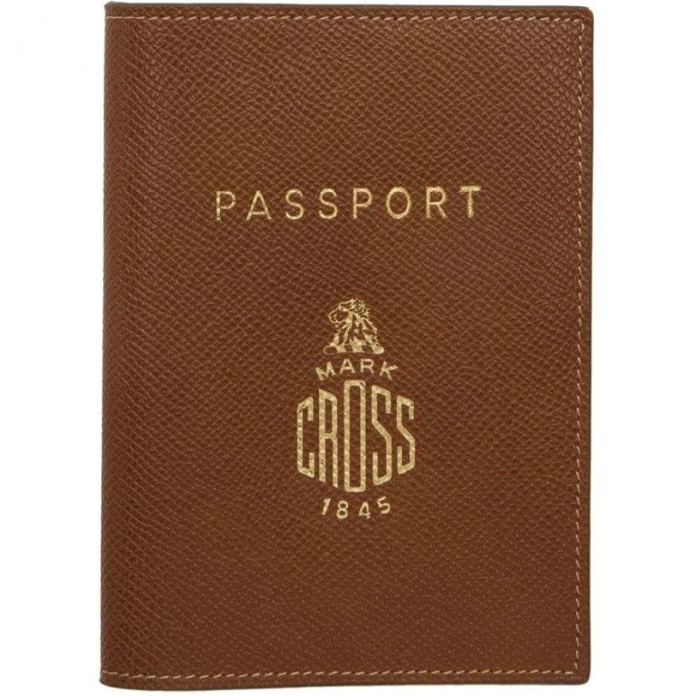 マーククロス Mark Cross レディース パスポートケース【Brown Passport Holder】
