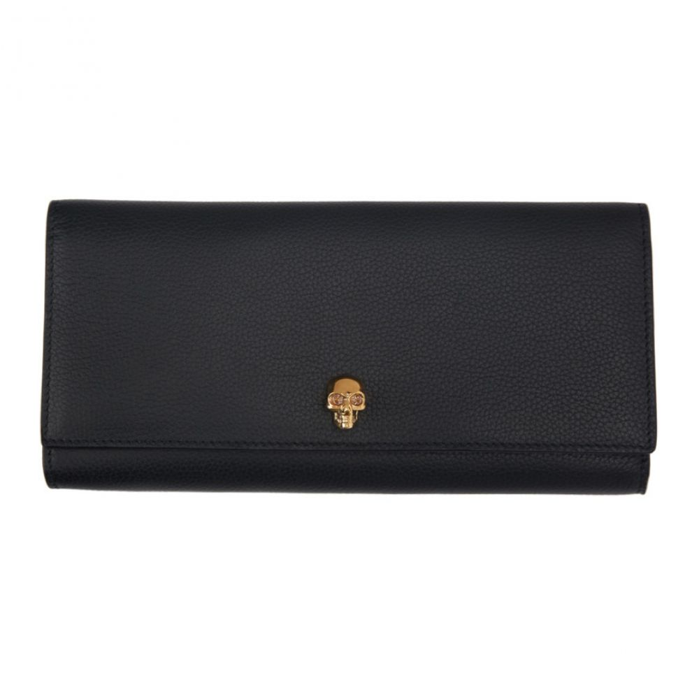 2f7c72fea01d アレキサンダー マックイーン Alexander McQueen レディース 財布【Black Skull Travel Wallet】