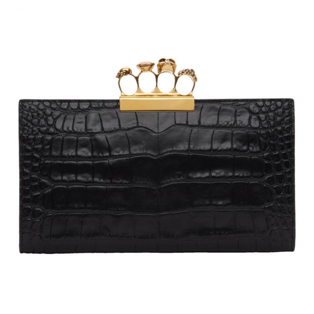 アレキサンダー Ring マックイーン Alexander McQueen McQueen レディース バッグ Four クラッチバッグ【Black Croc Four Ring Clutch】, 暮らしとコンロの店 -conroya-:3c233d55 --- sunward.msk.ru