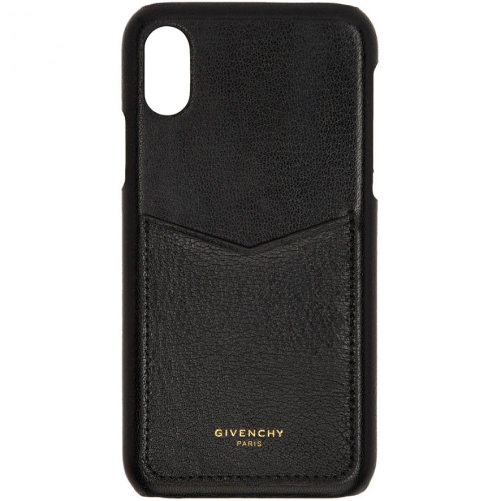ジバンシー Givenchy レディース iPhone (X)ケース【Black Leather Edge iPhone X Case】