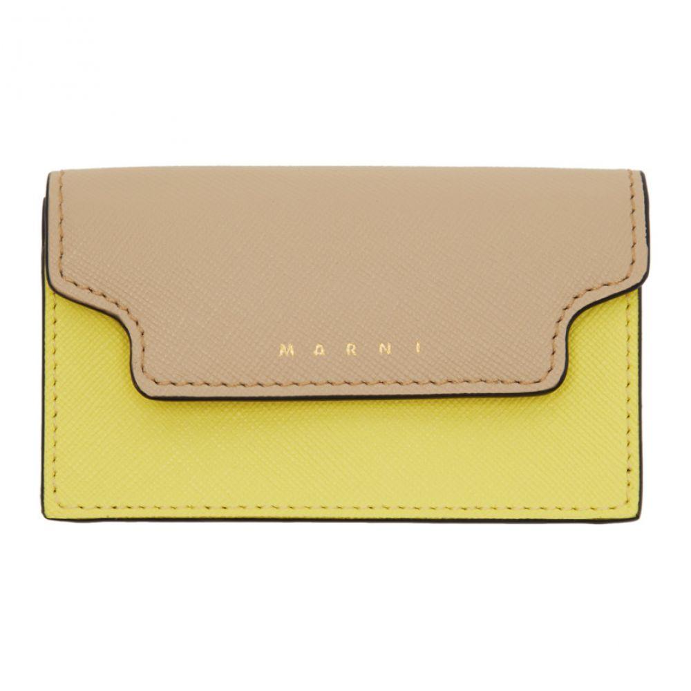 マルニ Marni レディース カードケース・名刺入れ【Beige & Yellow Envelope Card Holder】