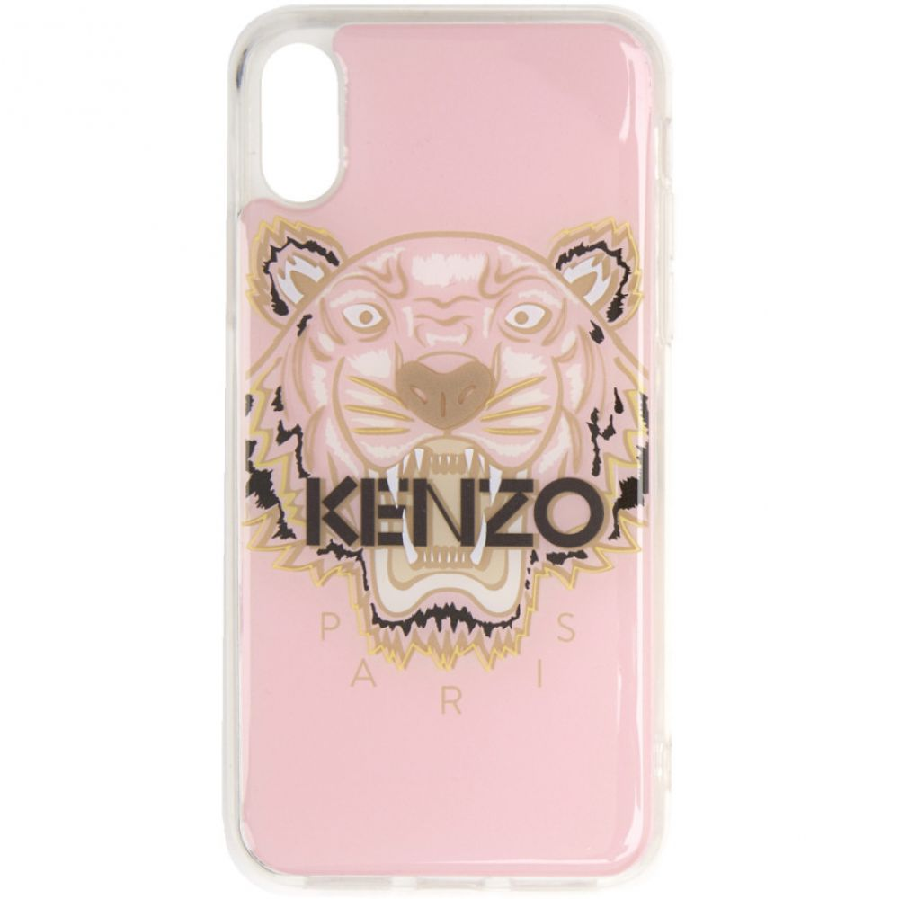 ケンゾー Kenzo レディース iPhone (X)ケース【Pink & Brown Tiger iPhone X/XS Case】