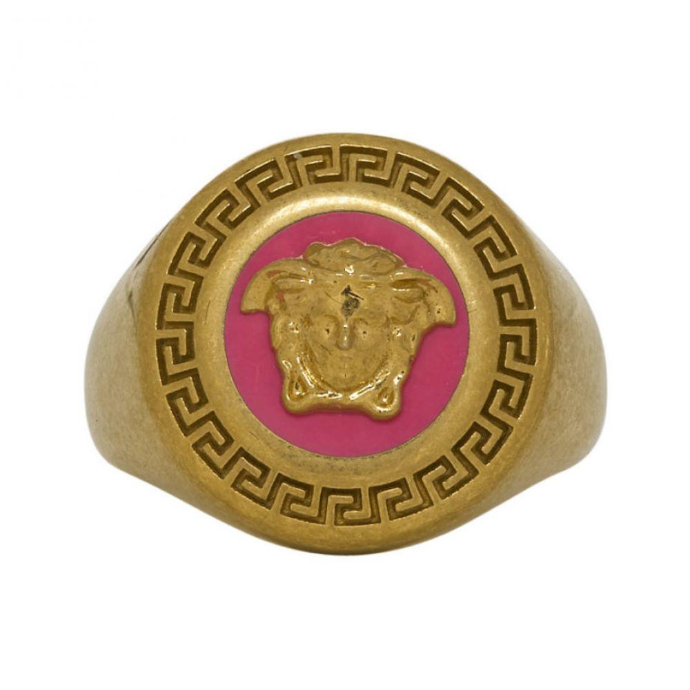 ヴェルサーチ Versace レディース ジュエリー・アクセサリー 指輪・リング【Pink & Gold Medusa Medallion Ring】