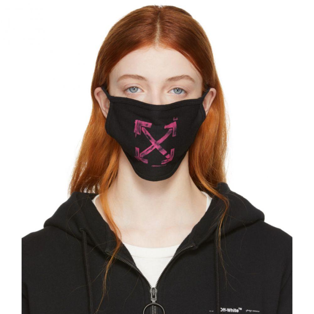 オフ-ホワイト Off-White レディース ファッション小物【Black Stencil Arrows Mask】