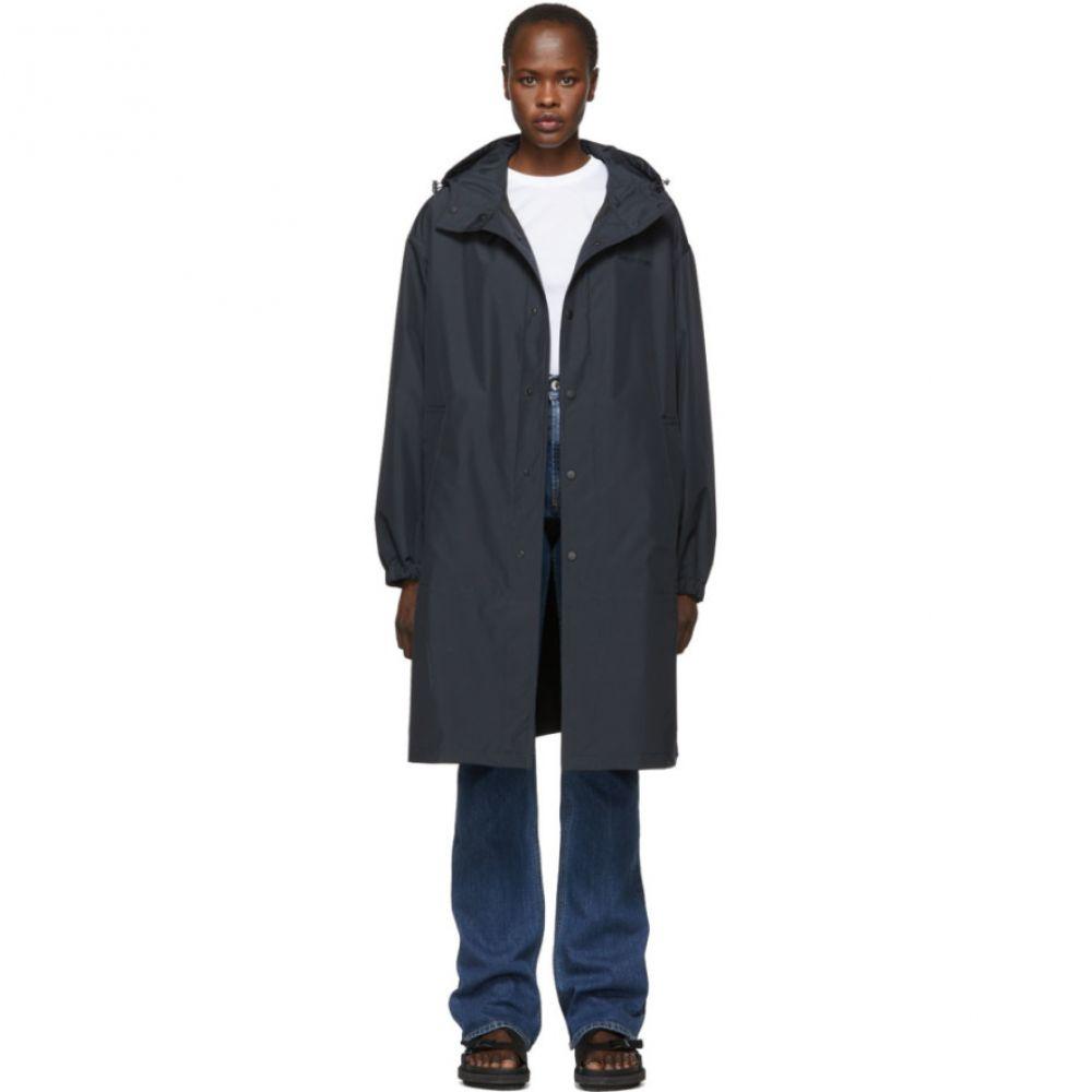 ヘルムート ラング Helmut Lang レディース アウター レインコート【Black Recycled Hooded Rain Coat】