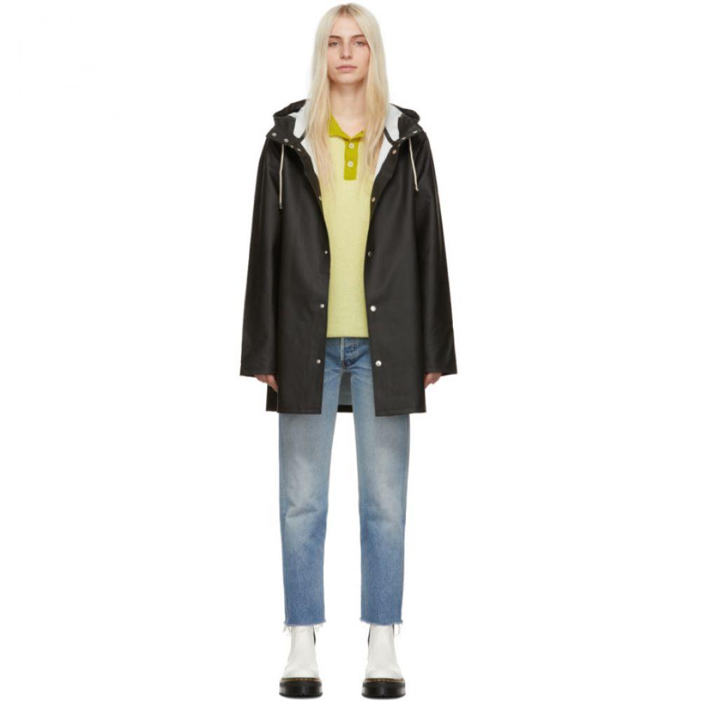 ストゥッテルハイム Stutterheim レディース アウター レインコート【Black Stockholm Raincoat】