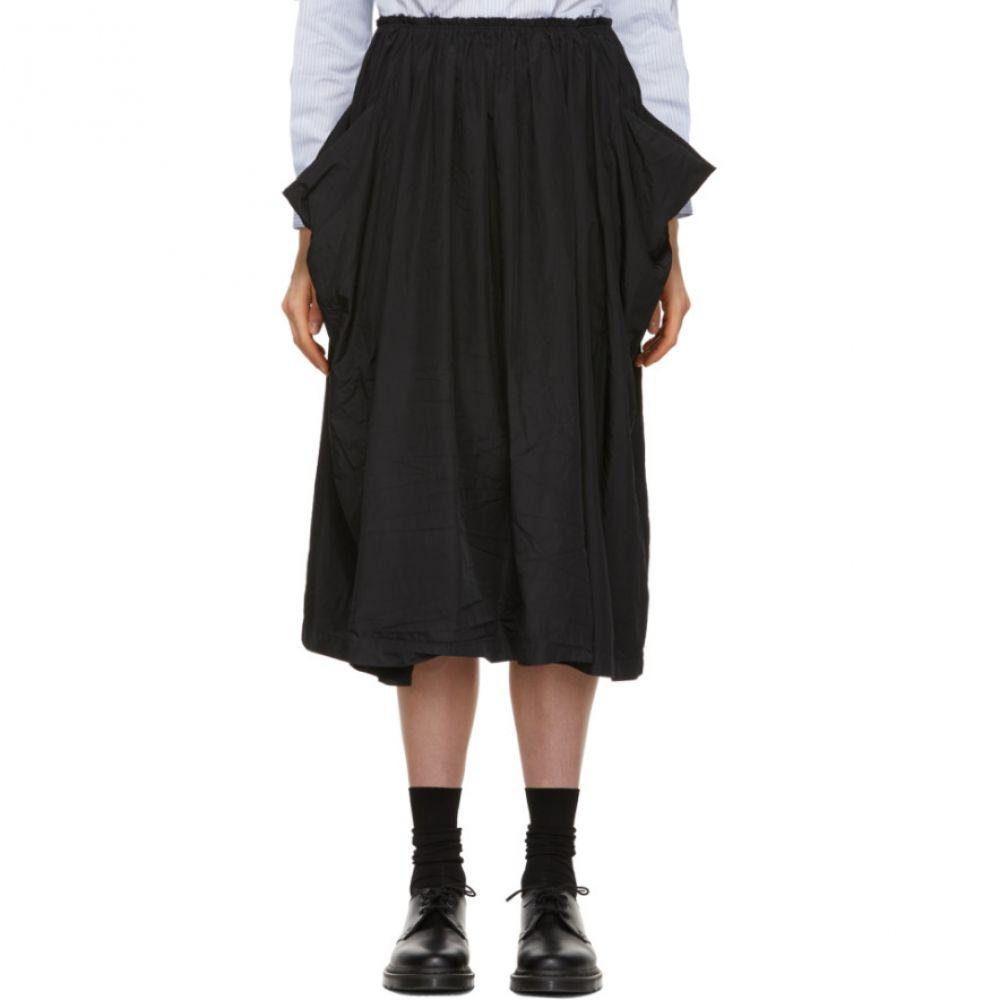 コム デ ギャルソン Comme des Garcons Comme des Garcons レディース スカート ひざ丈スカート【Black Wide Crinkled Skirt】