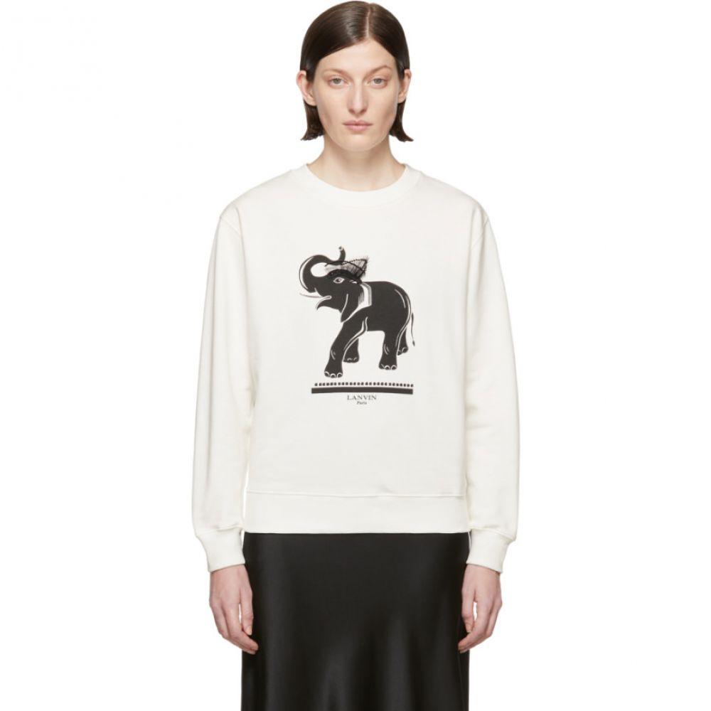 ランバン Lanvin レディース トップス スウェット・トレーナー【Off-White Elephant Sweatshirt】
