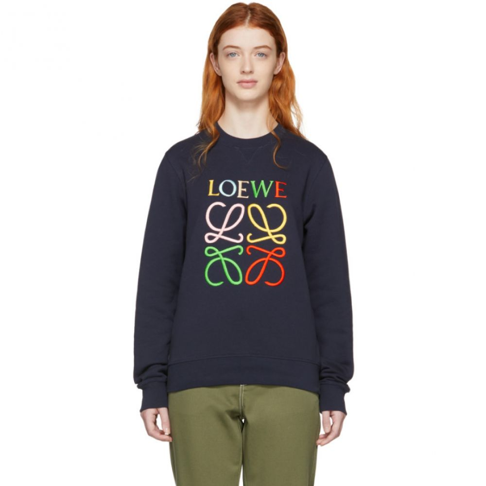ロエベ Loewe レディース トップス スウェット・トレーナー【Navy Anagram Sweatshirt】
