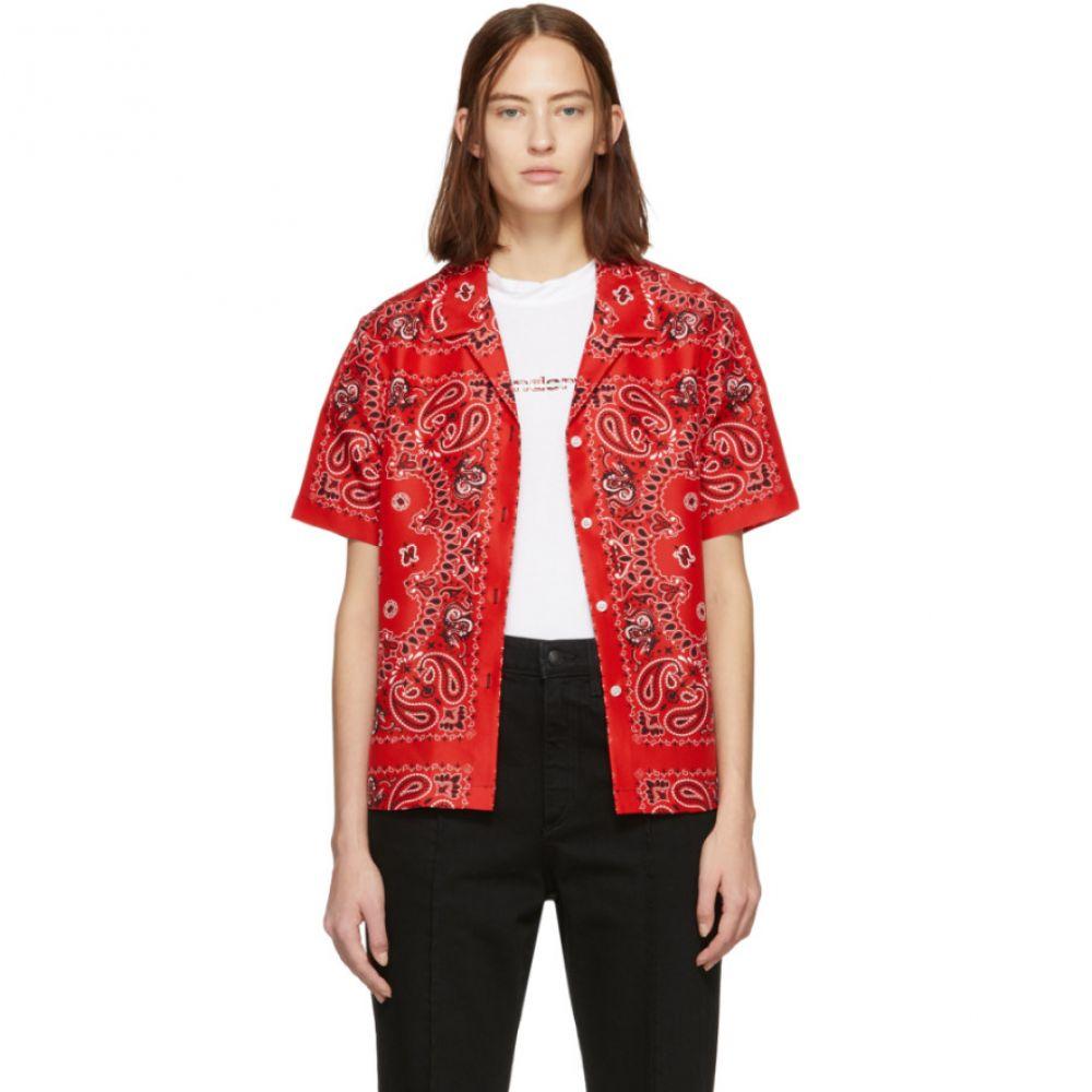 アレキサンダー ワン Alexander Wang レディース トップス ブラウス・シャツ【Red Silk Bandana Hawaiian Shirt】