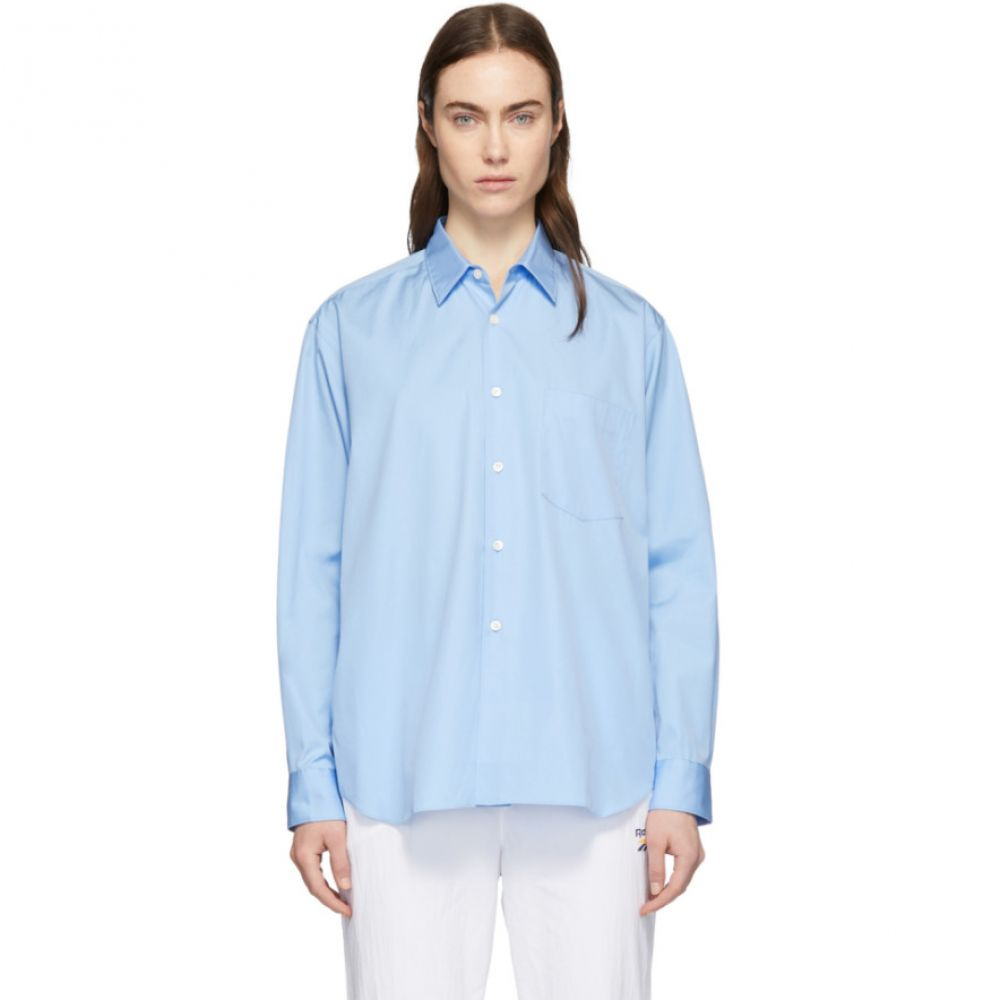 コム デ ギャルソン Comme des Garcons Shirt レディース トップス ブラウス・シャツ【Blue Wide Fit Classic Shirt】