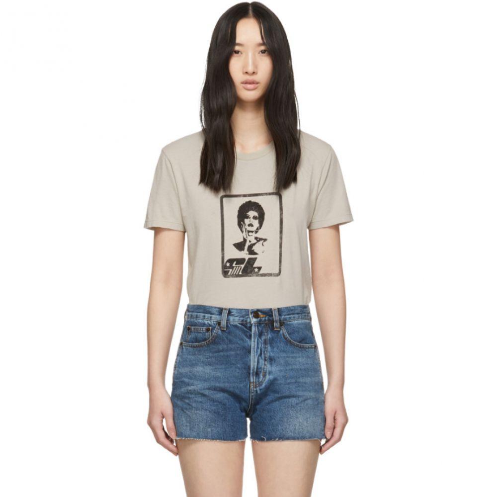 イヴ サンローラン Saint Laurent レディース トップス Tシャツ【Off-White Polaroid T-Shirt】