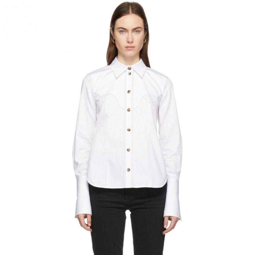 カイト Khaite レディース トップス ブラウス・シャツ【White Dena Shirt】