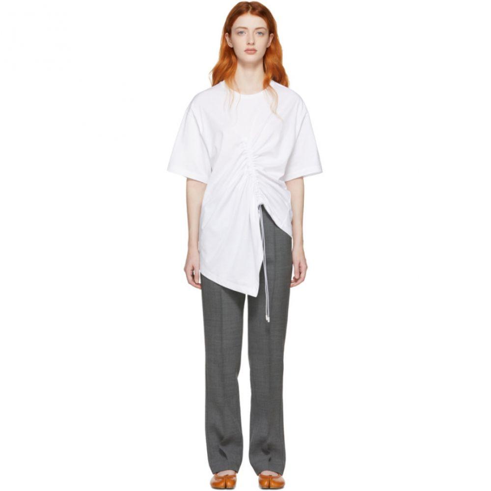 メゾン マルジェラ Maison Margiela レディース トップス Tシャツ【White Asymmetric T-Shirt】