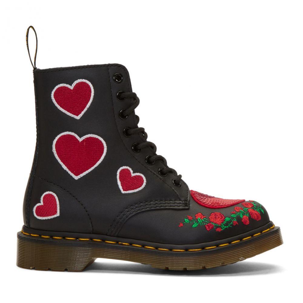 ドクターマーチン Dr. Martens レディース シューズ・靴 ブーツ【Black 1460 Pascal Hearts Boots】