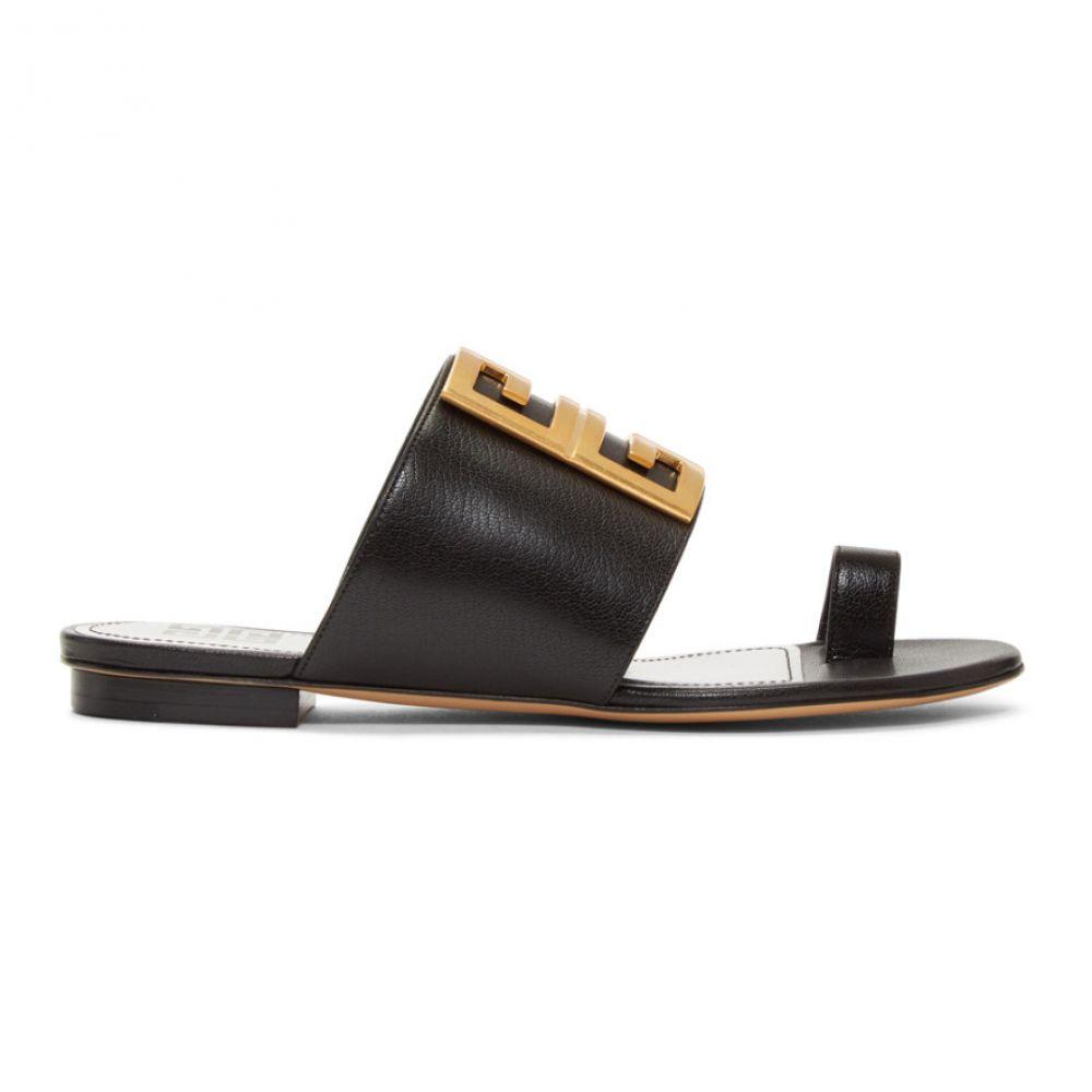 ジバンシー Givenchy レディース シューズ・靴 サンダル・ミュール【Black Toe Ring Sandals】