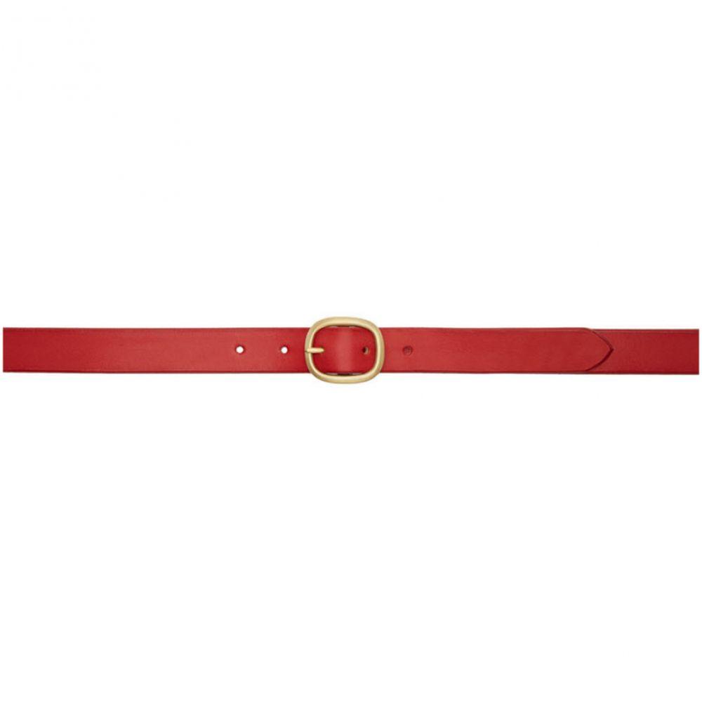 マキシマム ヘンリー Maximum Henry メンズ ベルト【SSENSE Exclusive Red & Gold Slim Oval Belt】