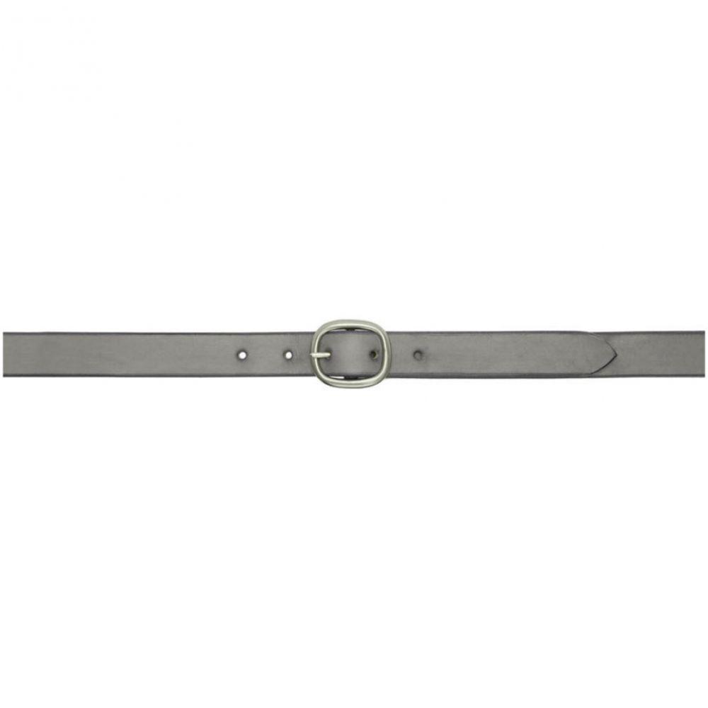 マキシマム ヘンリー Maximum Henry メンズ ベルト【Grey & Silver Slim Oval Belt】