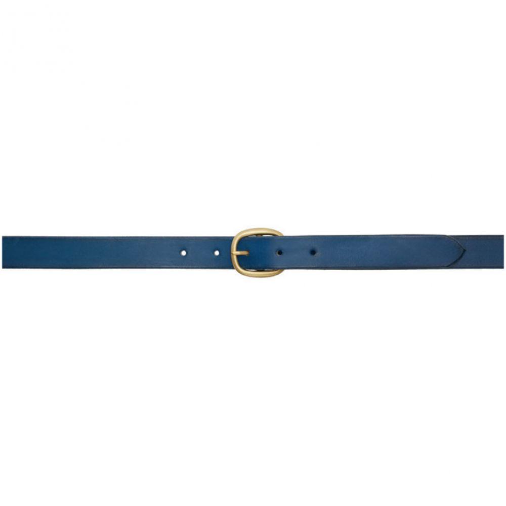 マキシマム ヘンリー Maximum Henry メンズ ベルト【Blue & Gold Slim Oval Belt】