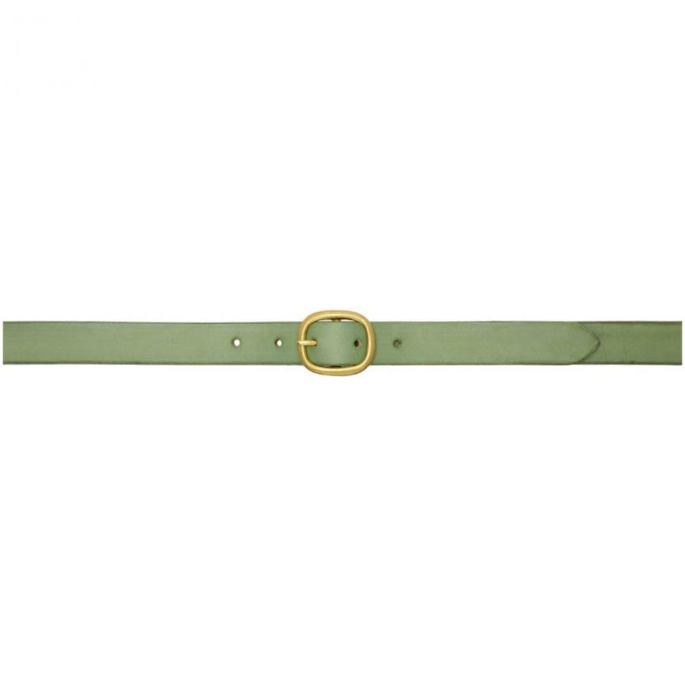 マキシマム ヘンリー Maximum Henry メンズ ベルト【Green & Gold Slim Oval Belt】