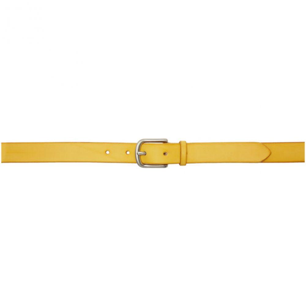 マキシマム ヘンリー Maximum Henry メンズ ベルト【Yellow & Silver Slim Standard Belt】