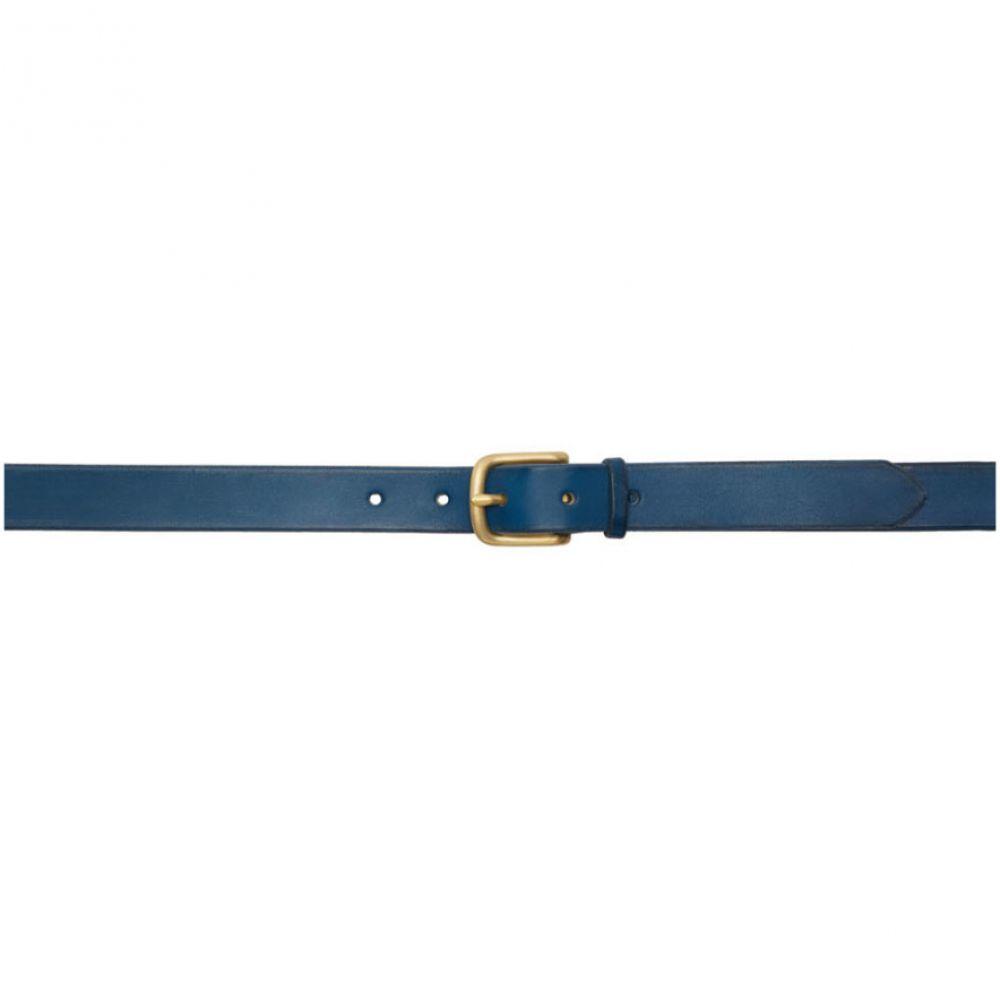 マキシマム ヘンリー Maximum Henry メンズ ベルト【Blue & Gold Slim Standard Belt】