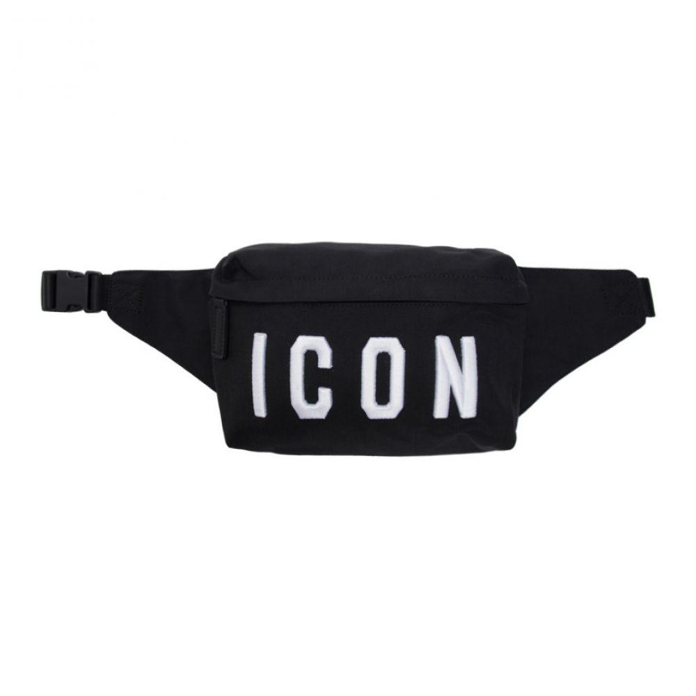 ディースクエアード Dsquared2 メンズ バッグ ボディバッグ・ウエストポーチ【Black Logo Bum Bag】