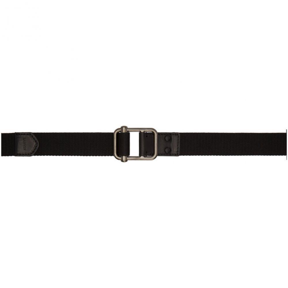 ランバン Lanvin メンズ ベルト【Black Logo Belt】