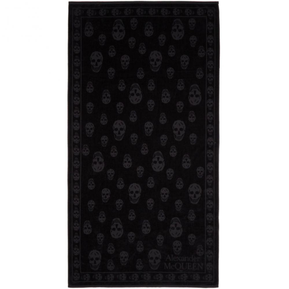 アレキサンダー マックイーン Alexander McQueen メンズ タオル【Black Skulls Towel】
