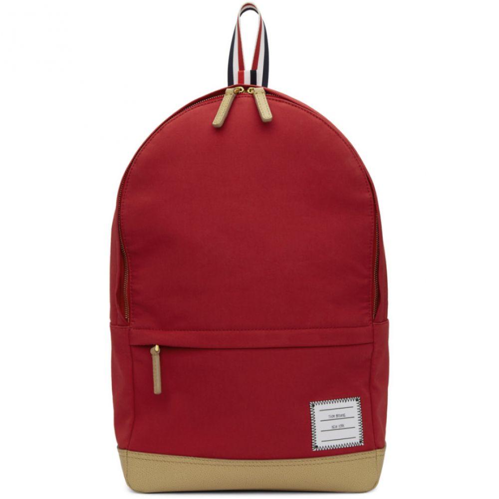 トム ブラウン Thom Browne メンズ バッグ バックパック・リュック【Red Unstructured Backpack】